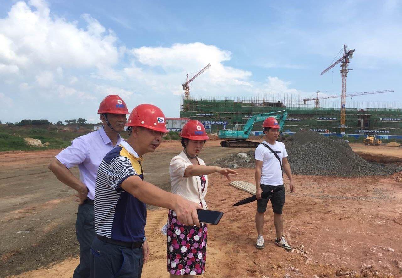 校领导检查桂林洋校区项目建设情况