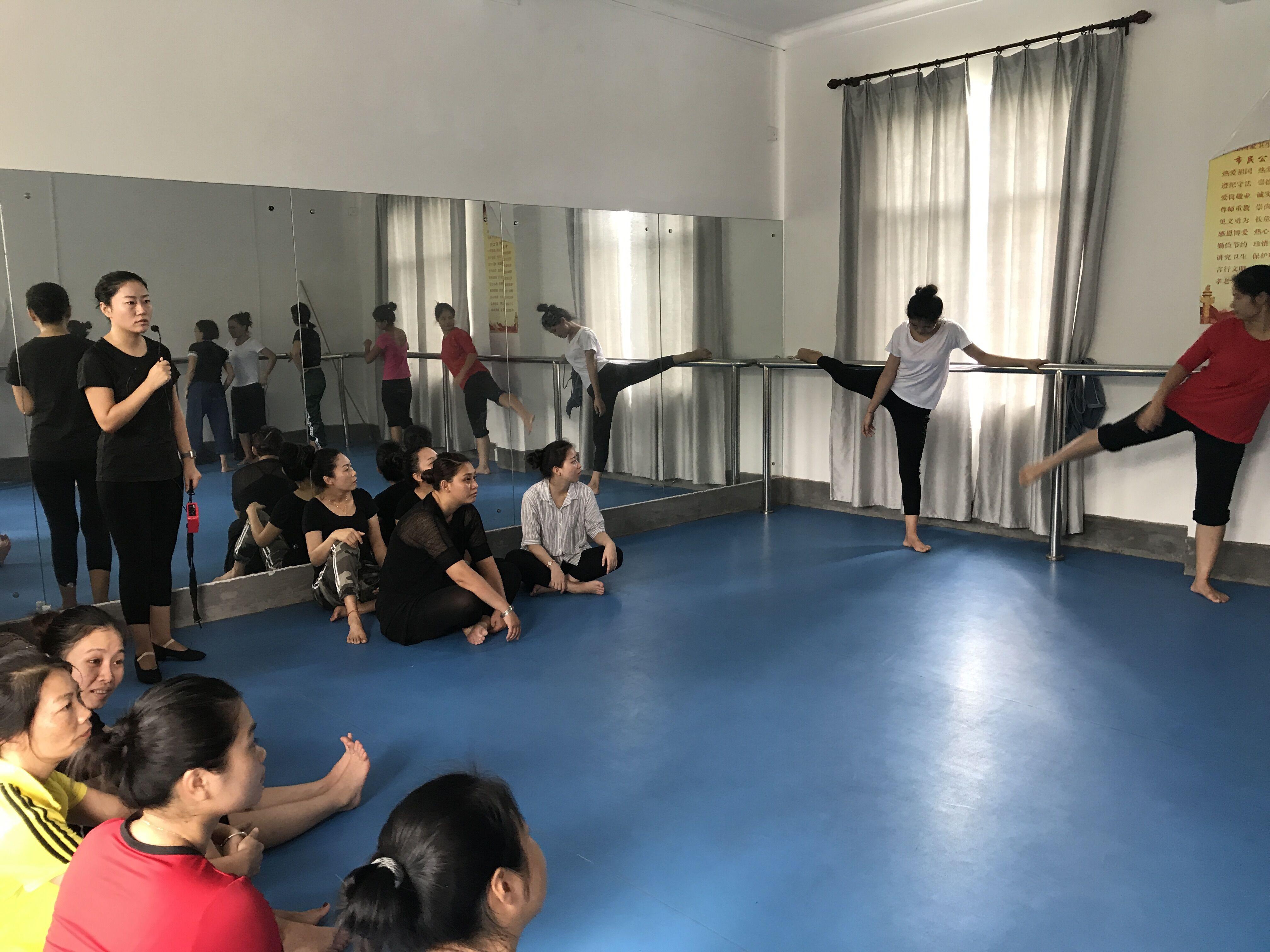 琼中、儋州两地幼儿园教师来我校参加技能培训