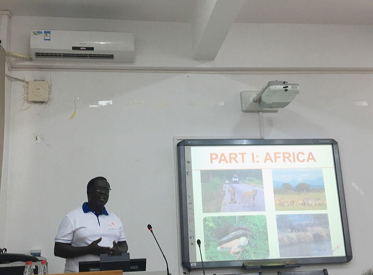 挪威科技大学教授与坦桑尼亚多多马大学教授来我院讲学