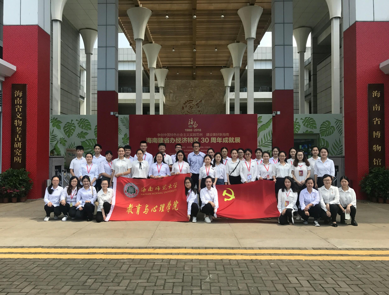 学院两个学生党支部组织党员参观海南建省办经济特区30周年成就展