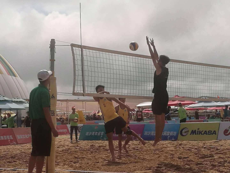 我校男女沙排双双获得第十四届必赢国际平台大学生沙滩排球锦标赛冠军
