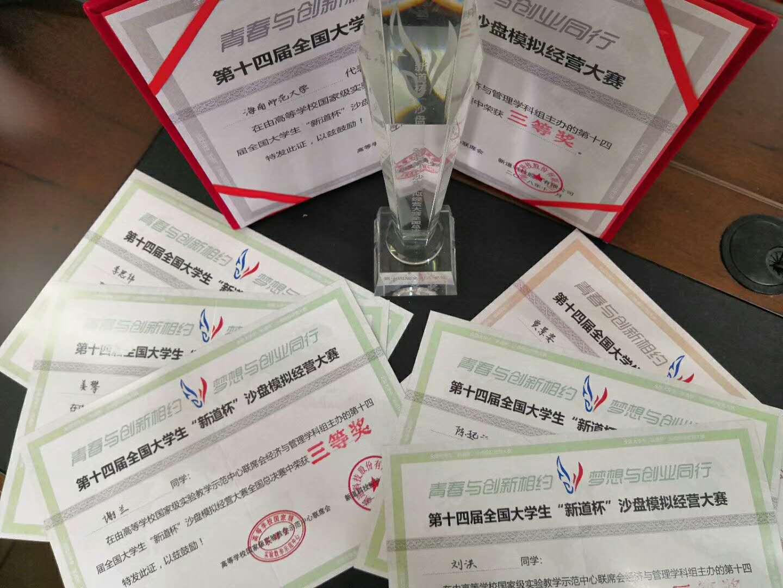 我校代表队在全国大学生沙盘模拟经营大赛中获佳绩