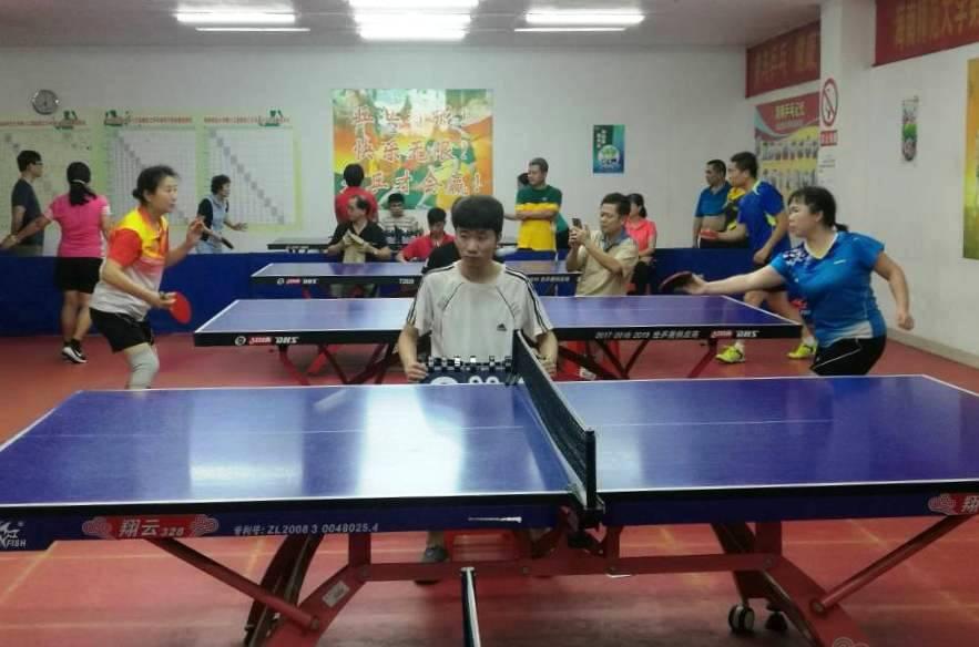 我校第十三届教职工乒乓球赛(团体赛)开幕
