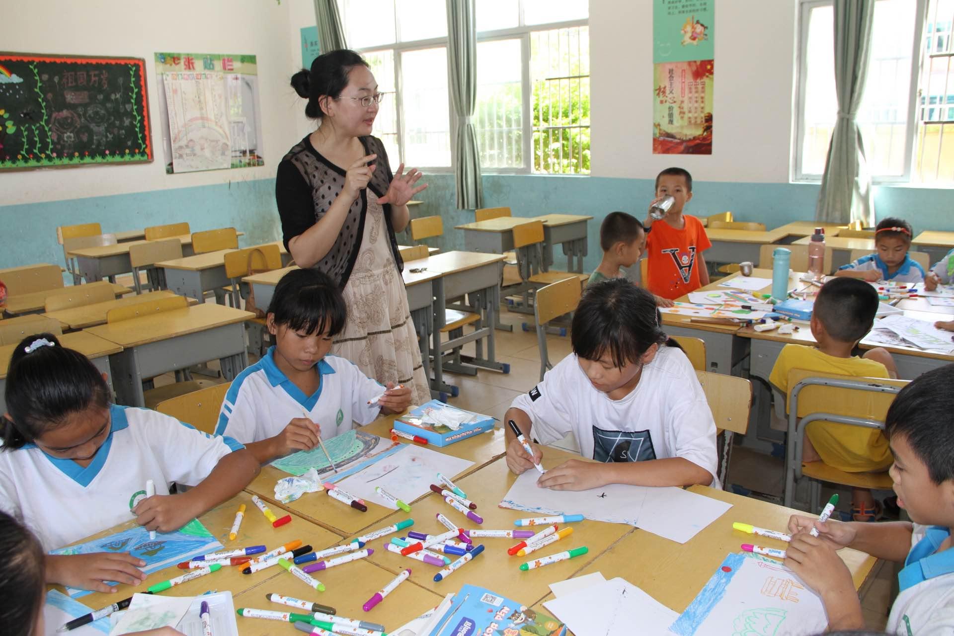 美术师范专业对口支援农村儿童美育夏令营