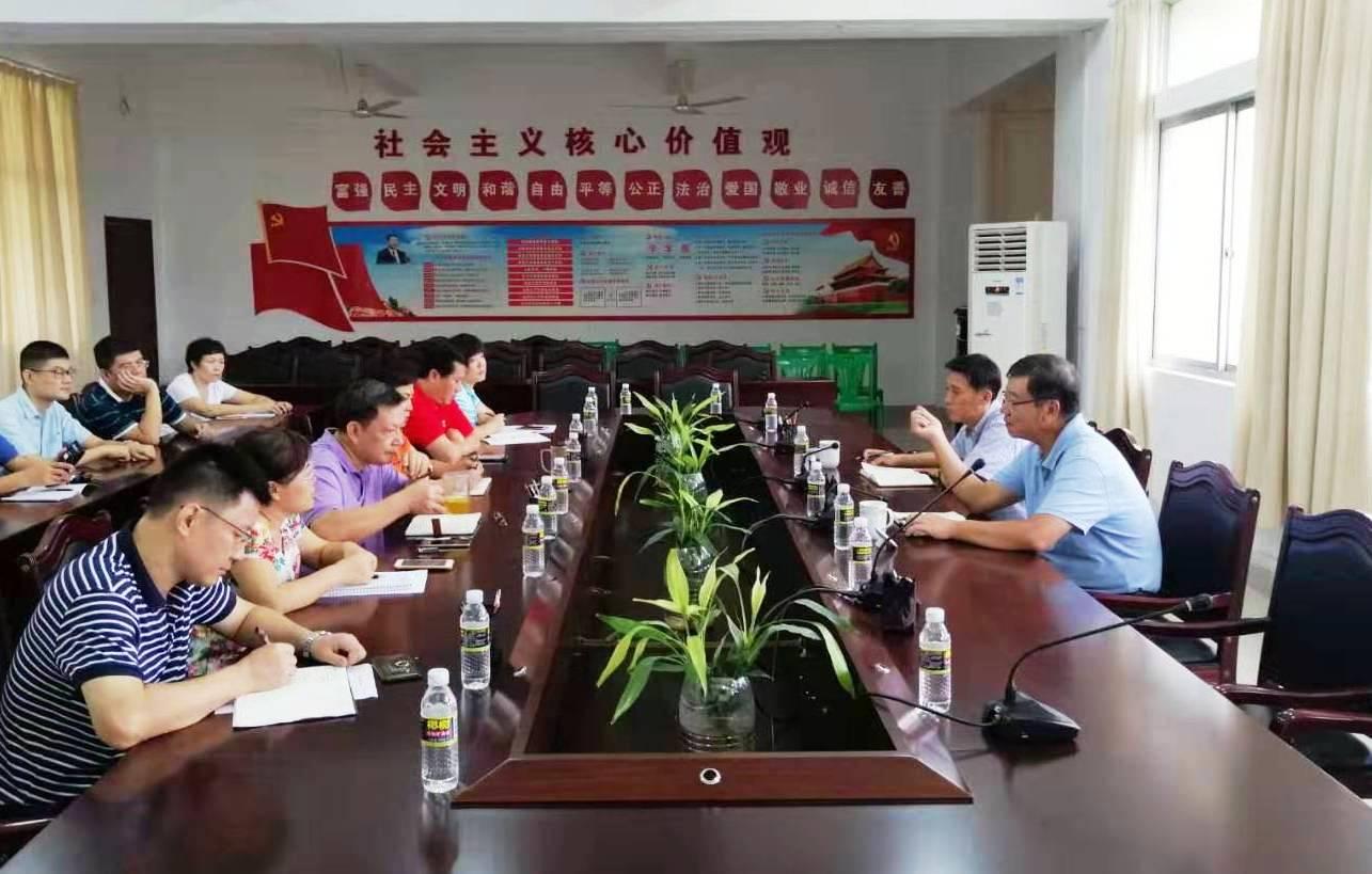林强到二级学院与教师代表座谈
