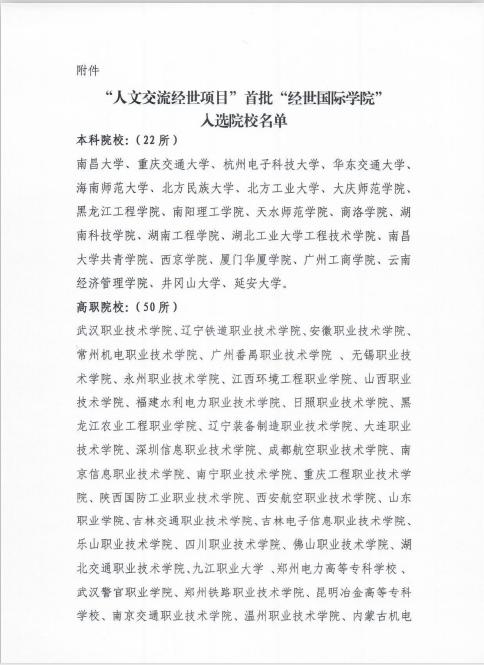 """熱烈祝賀我校首個""""經世國際學院""""申報成功"""