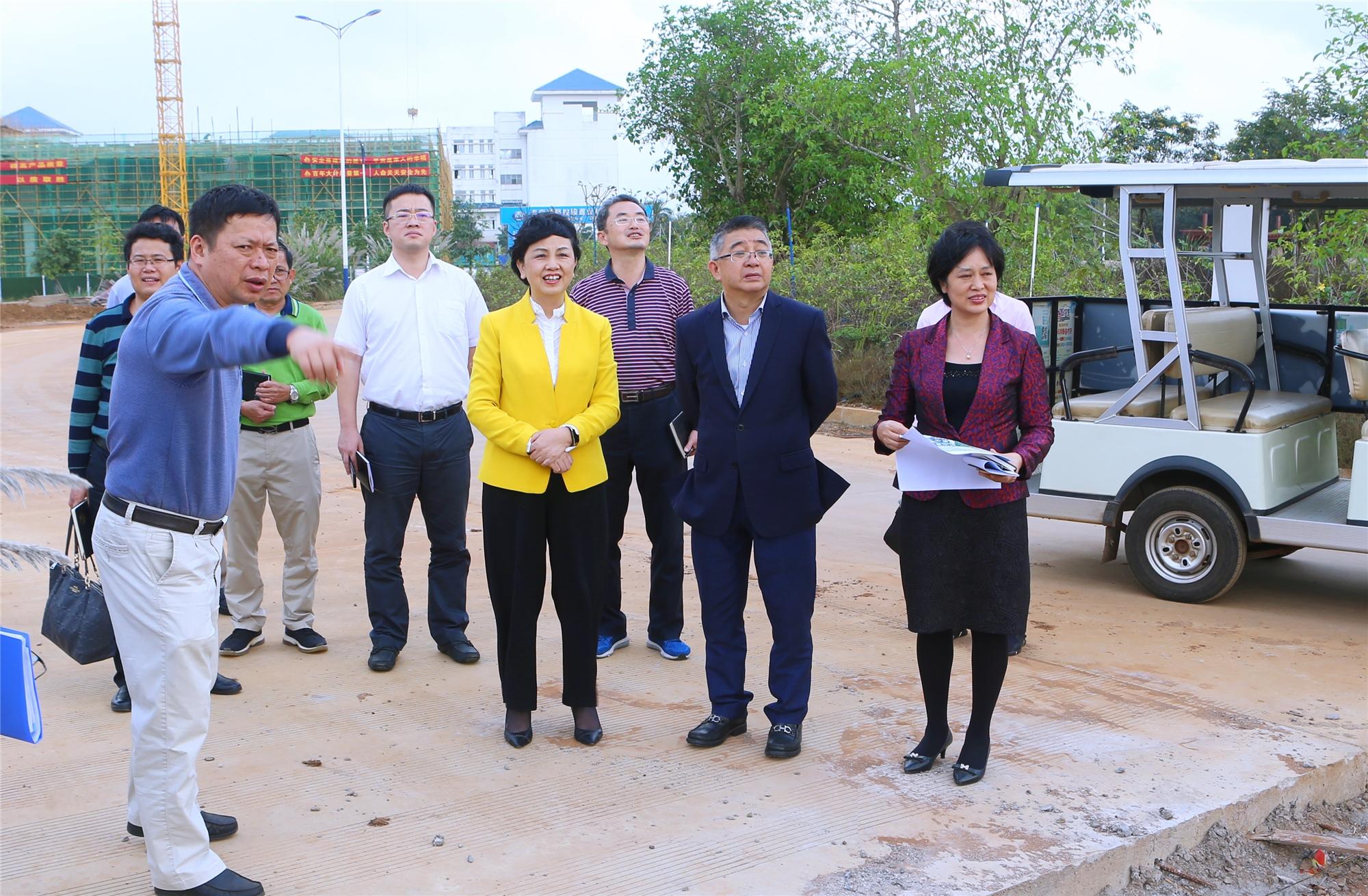 桂林洋开发区工委书记林道坚一行到我校调研