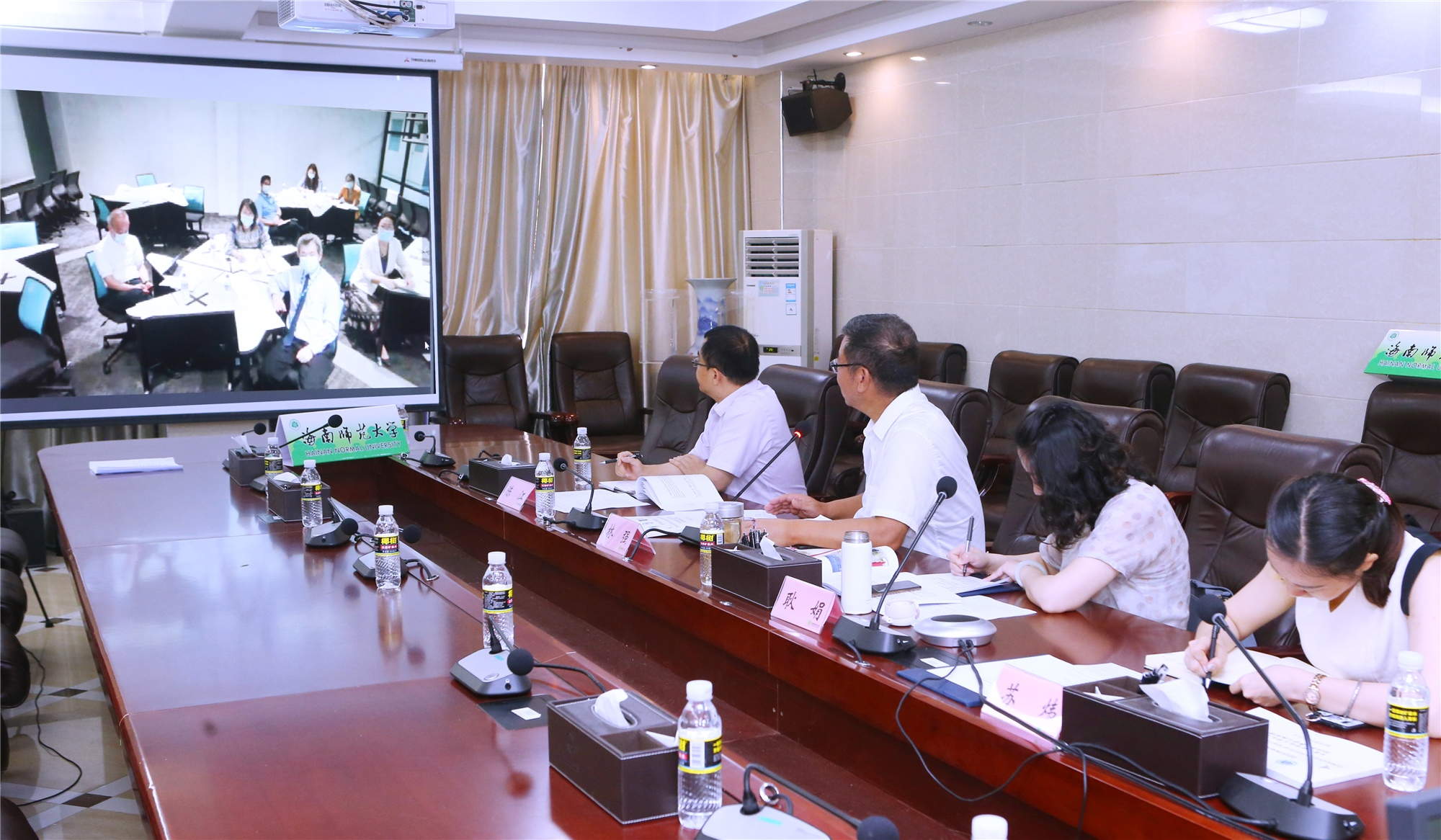 我校跟马来西亚世纪大学举行孔子学院第五届理事会网络视频集会