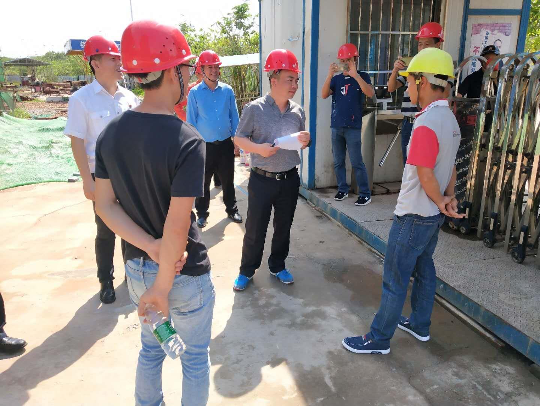 农民工工资国家核查组到我校桂林洋校区综合教学楼项目核查