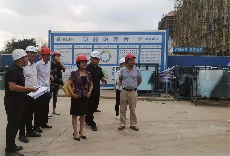 校领导到桂林洋校区调研工程建设项目工作